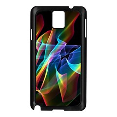 Aurora Ribbons, Abstract Rainbow Veils  Samsung Galaxy Note 3 N9005 Case (black)