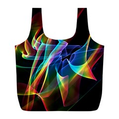 Aurora Ribbons, Abstract Rainbow Veils  Reusable Bag (l)