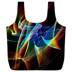 Aurora Ribbons, Abstract Rainbow Veils  Reusable Bag (xl)