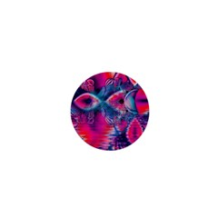 Cosmic Heart Of Fire, Abstract Crystal Palace 1  Mini Button Magnet