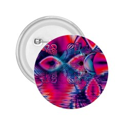 Cosmic Heart of Fire, Abstract Crystal Palace 2.25  Button