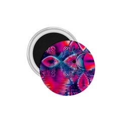Cosmic Heart of Fire, Abstract Crystal Palace 1.75  Button Magnet