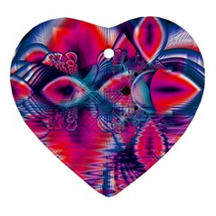 Cosmic Heart of Fire, Abstract Crystal Palace Heart Ornament