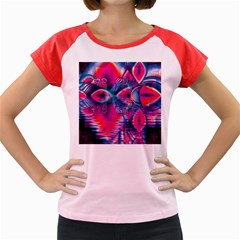 Cosmic Heart of Fire, Abstract Crystal Palace Women s Cap Sleeve T-Shirt (Colored)