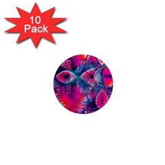 Cosmic Heart of Fire, Abstract Crystal Palace 1  Mini Button Magnet (10 pack)