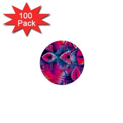 Cosmic Heart of Fire, Abstract Crystal Palace 1  Mini Button (100 pack)