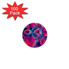 Cosmic Heart Of Fire, Abstract Crystal Palace 1  Mini Button Magnet (100 Pack)