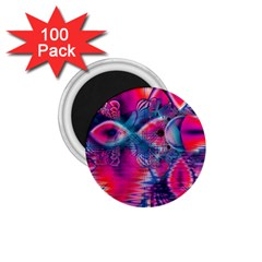 Cosmic Heart of Fire, Abstract Crystal Palace 1.75  Button Magnet (100 pack)