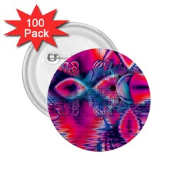 Cosmic Heart of Fire, Abstract Crystal Palace 2.25  Button (100 pack)