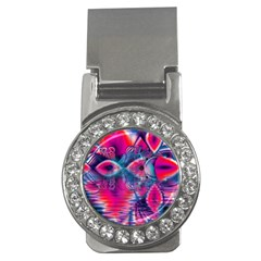Cosmic Heart of Fire, Abstract Crystal Palace Money Clip (CZ)