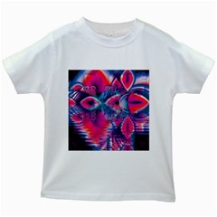 Cosmic Heart of Fire, Abstract Crystal Palace Kids T-shirt (White)