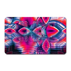 Cosmic Heart of Fire, Abstract Crystal Palace Magnet (Rectangular)