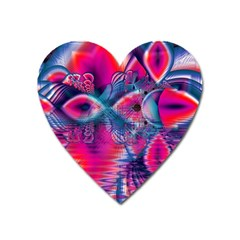 Cosmic Heart of Fire, Abstract Crystal Palace Magnet (Heart)