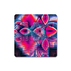 Cosmic Heart of Fire, Abstract Crystal Palace Magnet (Square)