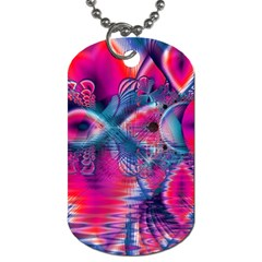 Cosmic Heart Of Fire, Abstract Crystal Palace Dog Tag (one Sided)