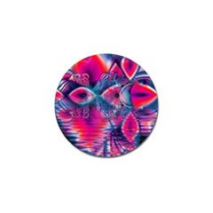 Cosmic Heart of Fire, Abstract Crystal Palace Golf Ball Marker 4 Pack