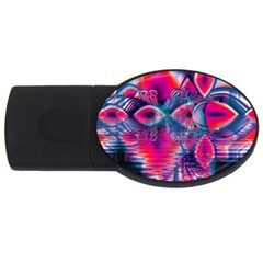 Cosmic Heart Of Fire, Abstract Crystal Palace 2gb Usb Flash Drive (oval)