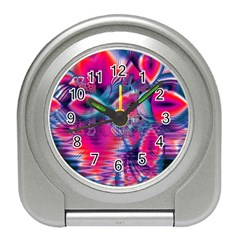 Cosmic Heart of Fire, Abstract Crystal Palace Desk Alarm Clock