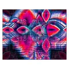 Cosmic Heart of Fire, Abstract Crystal Palace Jigsaw Puzzle (Rectangle)