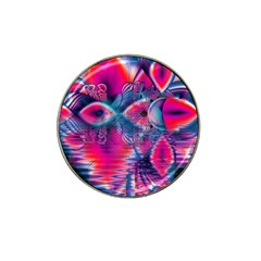Cosmic Heart of Fire, Abstract Crystal Palace Golf Ball Marker 4 Pack (for Hat Clip)