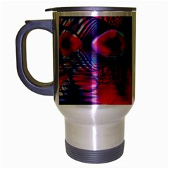 Cosmic Heart Of Fire, Abstract Crystal Palace Travel Mug (silver Gray)