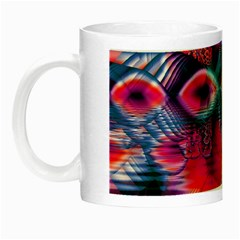 Cosmic Heart Of Fire, Abstract Crystal Palace Glow In The Dark Mug