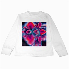 Cosmic Heart Of Fire, Abstract Crystal Palace Kids Long Sleeve T Shirt