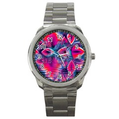 Cosmic Heart Of Fire, Abstract Crystal Palace Sport Metal Watch