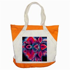 Cosmic Heart of Fire, Abstract Crystal Palace Accent Tote Bag