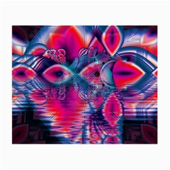 Cosmic Heart of Fire, Abstract Crystal Palace Glasses Cloth (Small, Two Sided)