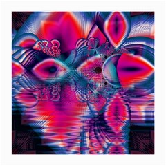 Cosmic Heart of Fire, Abstract Crystal Palace Glasses Cloth (Medium, Two Sided)