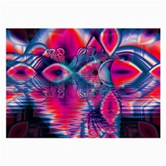 Cosmic Heart of Fire, Abstract Crystal Palace Glasses Cloth (Large, Two Sided)