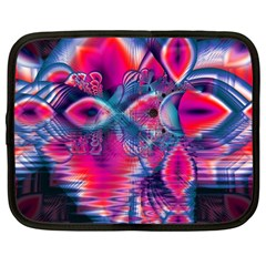 Cosmic Heart of Fire, Abstract Crystal Palace Netbook Sleeve (Large)