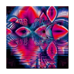 Cosmic Heart of Fire, Abstract Crystal Palace Face Towel