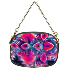 Cosmic Heart of Fire, Abstract Crystal Palace Chain Purse (Two Sided)
