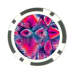 Cosmic Heart of Fire, Abstract Crystal Palace Poker Chip (10 Pack)