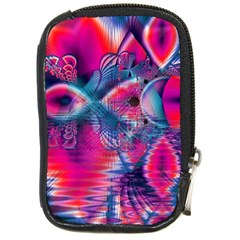 Cosmic Heart of Fire, Abstract Crystal Palace Compact Camera Leather Case