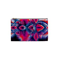 Cosmic Heart of Fire, Abstract Crystal Palace Cosmetic Bag (Small)