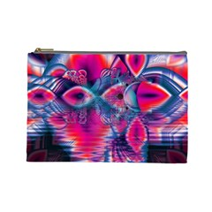 Cosmic Heart of Fire, Abstract Crystal Palace Cosmetic Bag (Large)