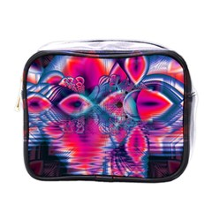 Cosmic Heart of Fire, Abstract Crystal Palace Mini Travel Toiletry Bag (One Side)