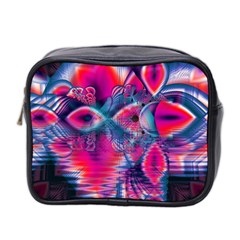 Cosmic Heart of Fire, Abstract Crystal Palace Mini Travel Toiletry Bag (Two Sides)