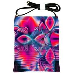 Cosmic Heart Of Fire, Abstract Crystal Palace Shoulder Sling Bag