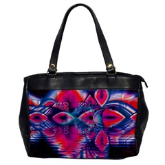 Cosmic Heart of Fire, Abstract Crystal Palace Oversize Office Handbag (One Side)