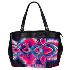 Cosmic Heart of Fire, Abstract Crystal Palace Oversize Office Handbag (Two Sides)