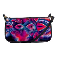 Cosmic Heart of Fire, Abstract Crystal Palace Evening Bag