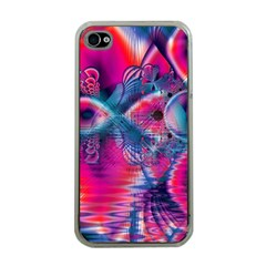 Cosmic Heart Of Fire, Abstract Crystal Palace Apple Iphone 4 Case (clear)
