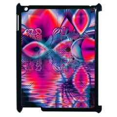 Cosmic Heart Of Fire, Abstract Crystal Palace Apple Ipad 2 Case (black)