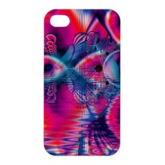 Cosmic Heart of Fire, Abstract Crystal Palace Apple iPhone 4/4S Premium Hardshell Case