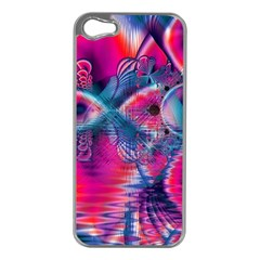 Cosmic Heart of Fire, Abstract Crystal Palace Apple iPhone 5 Case (Silver)