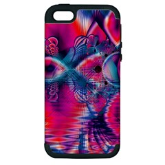 Cosmic Heart of Fire, Abstract Crystal Palace Apple iPhone 5 Hardshell Case (PC+Silicone)
